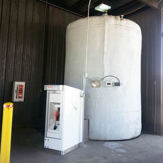 Cold Weather DEF Bulk Storage With Island Dispenser